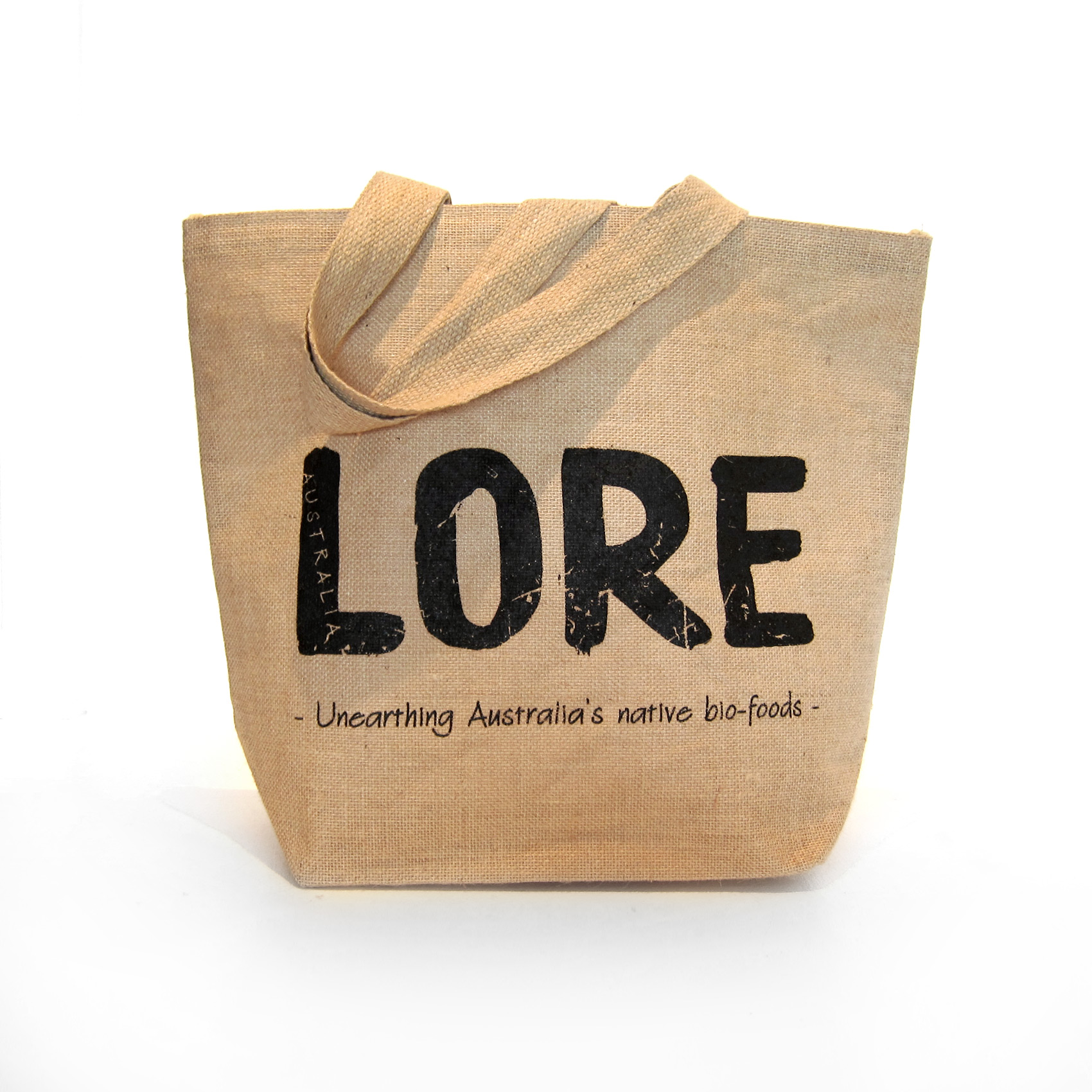 Lined jute tote bag - LORE Australia | Unearthing Australia's ...