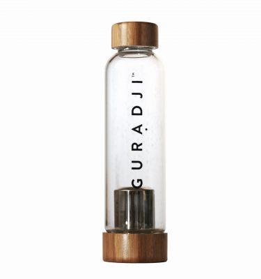Glass bamboo tea infuser bottle