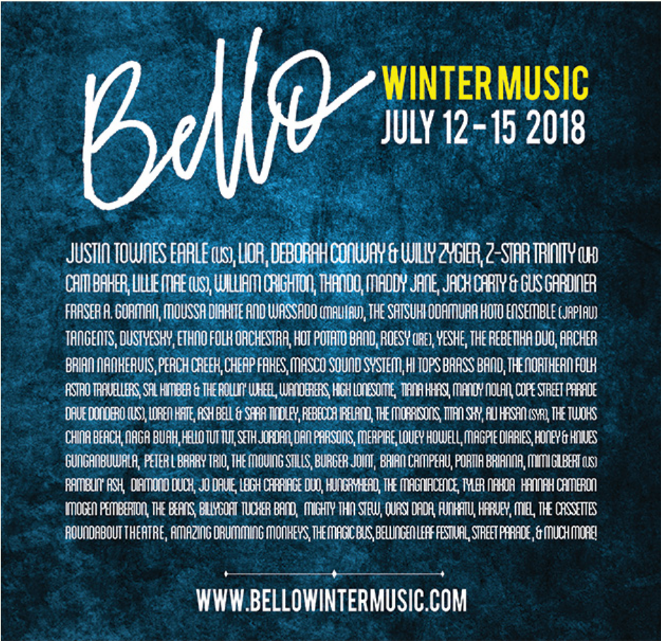 Bellingen Winter Music Festival 2018